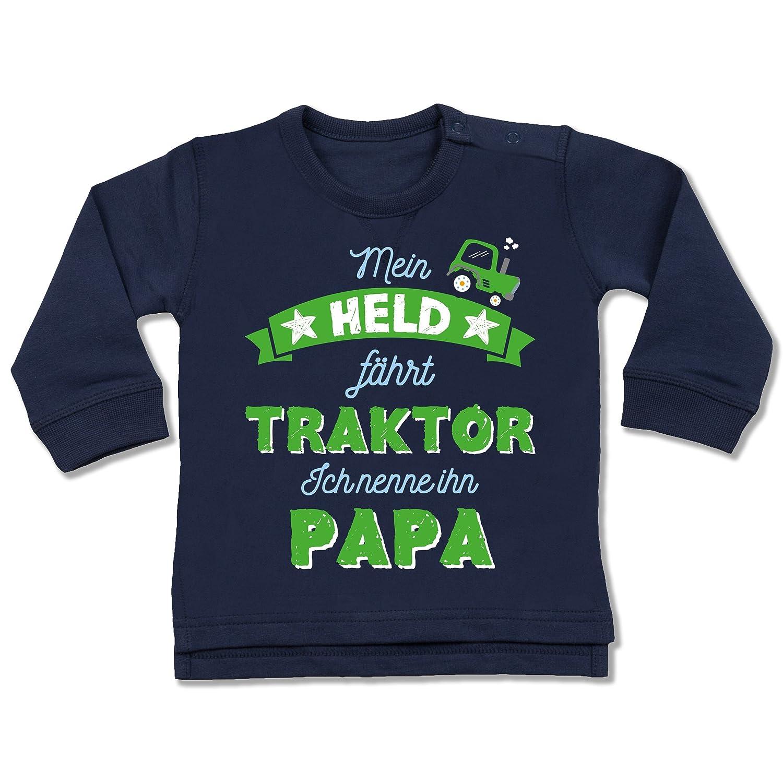 Anlässe Baby - Mein Held fährt Traktor - Baby Pullover Shirtracer BZ31