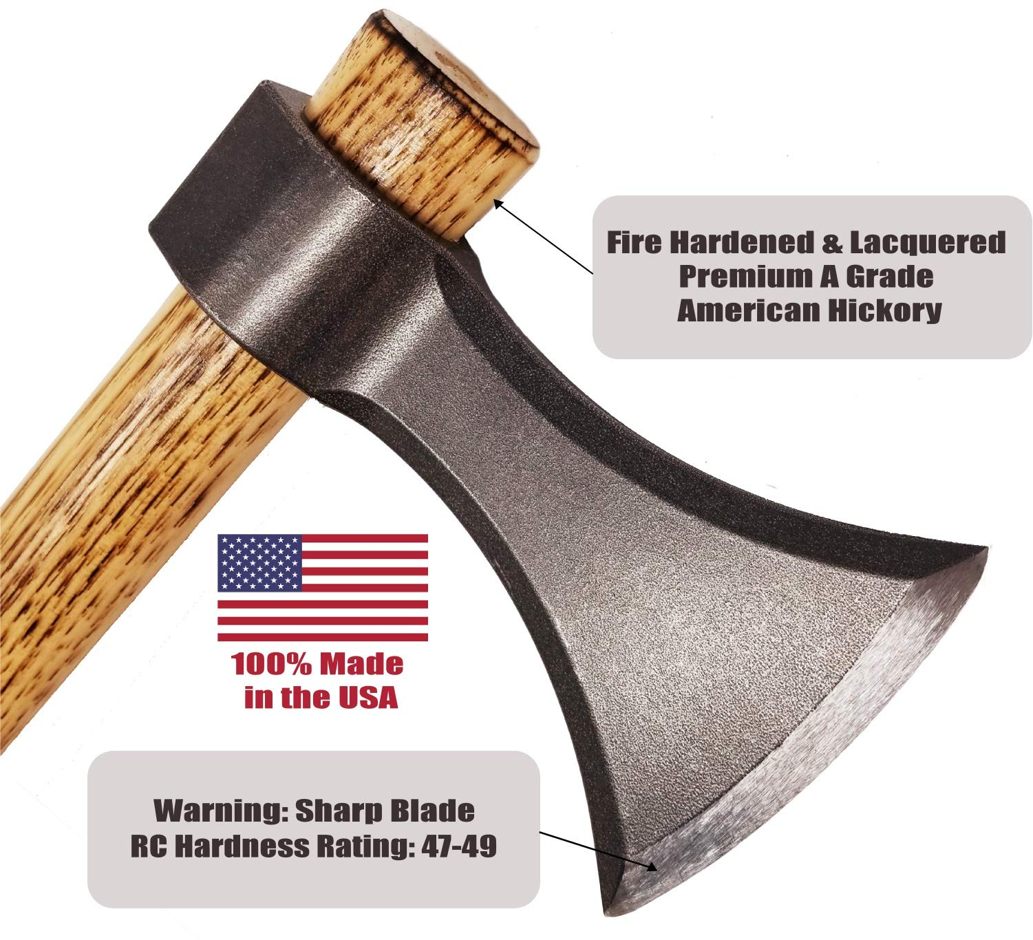 Bladed Throwing Axe - USA Made Throwing Tomahawk Blade - One or Two Hand Axe to Throw (Natural Steel) by Bladed (Image #5)