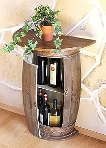 DanDiBo Pared Mesa Mesa botellero Vino Barril 0373 de R marrón ...