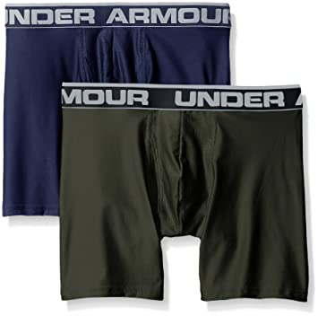 "f7a10f21c2f Under Armour Men's Original Series 6"" Boxerjock, Midnight  Navy/Artillery Green, XXX"