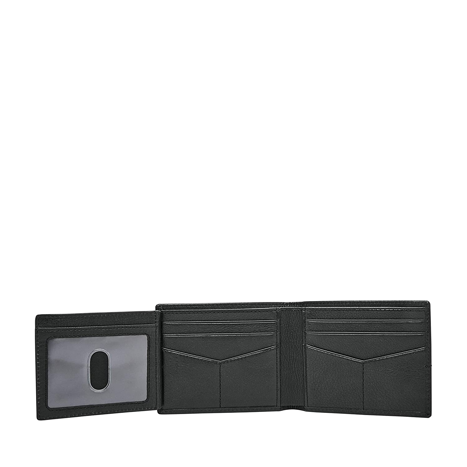 Fossil Mens Roger Leather Bifold Flip ID Wallet