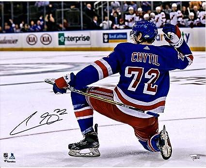 promo code 660ee c74c4 Filip Chytil New York Rangers Autographed 16