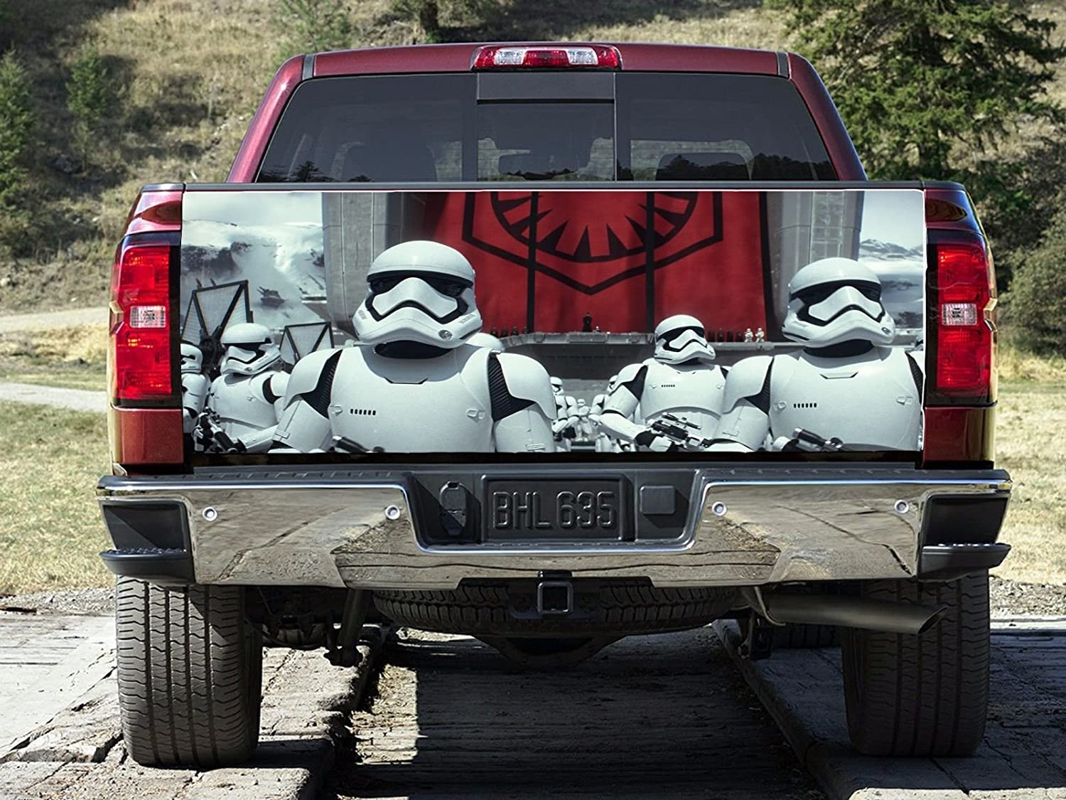Star Wars Stormtroopers Tailgate Wrap, Truck Decal, Tailgate Sticker, Tailgate Car Design, Tailgate Truck Decor gc2377