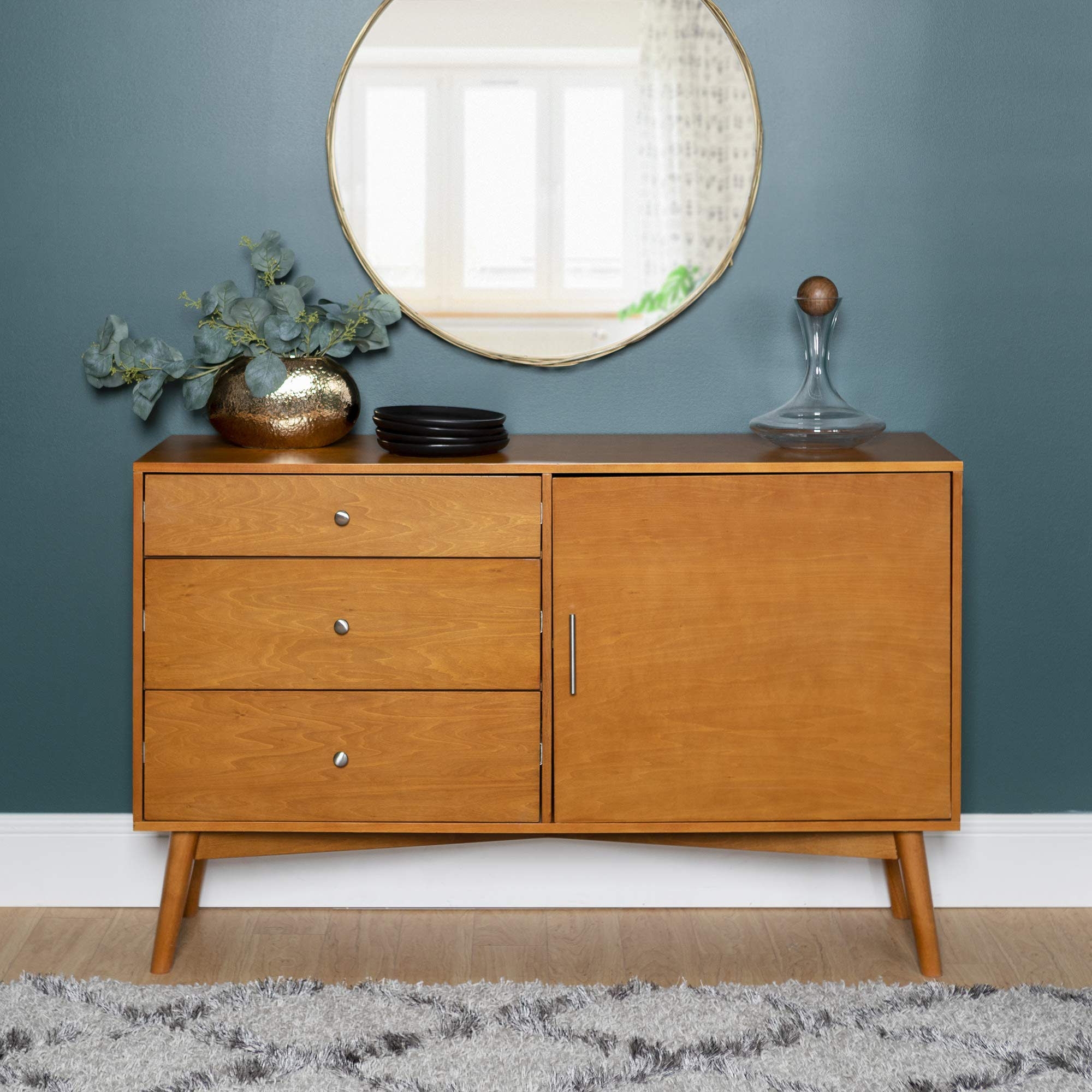 New Mid Century Modern Television Console-Acorn Finish by Home Accent Furnishings