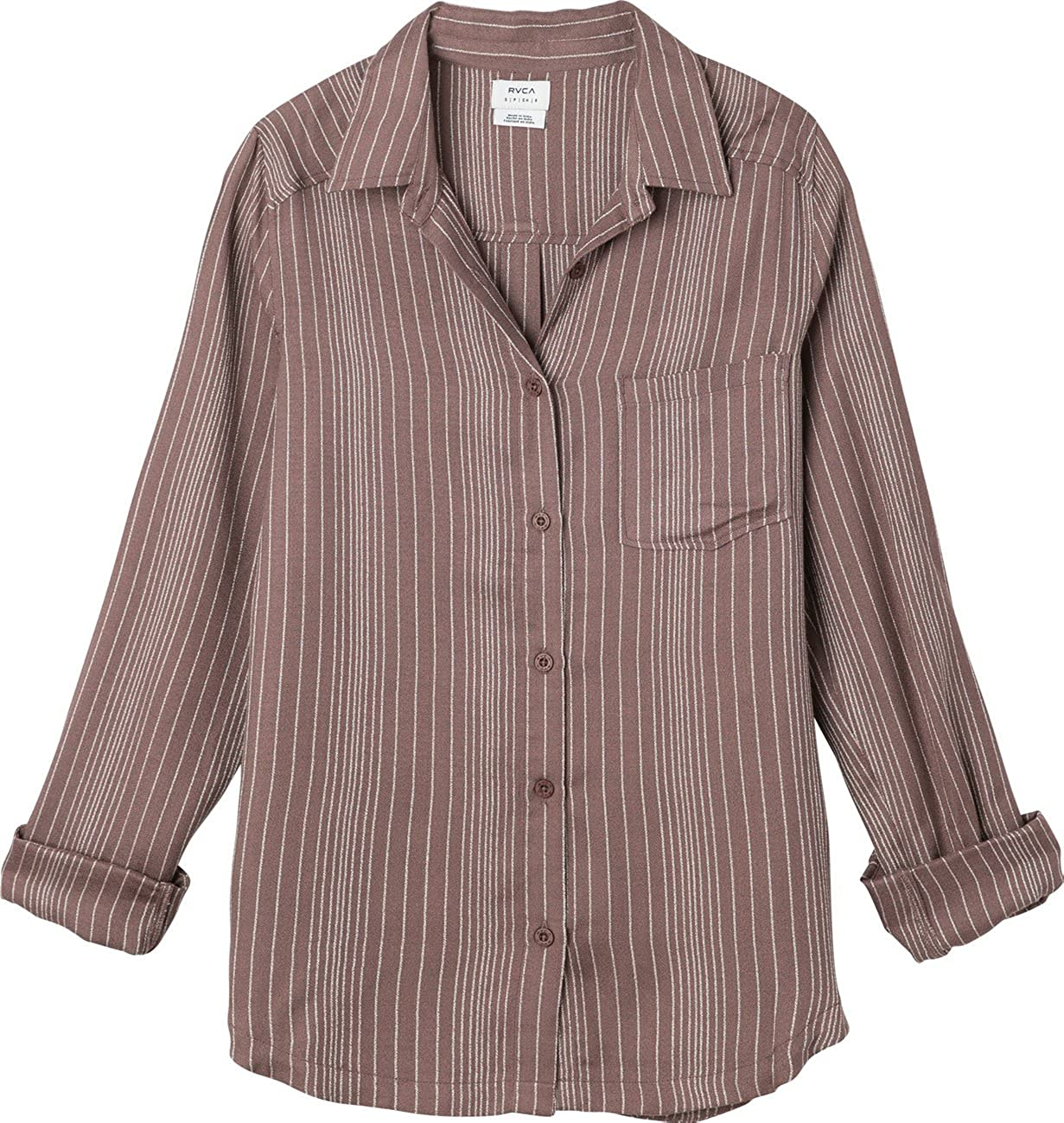 RVCA Women's Denver Woven Selling and selling Shirt Some reservation Long Sleeve