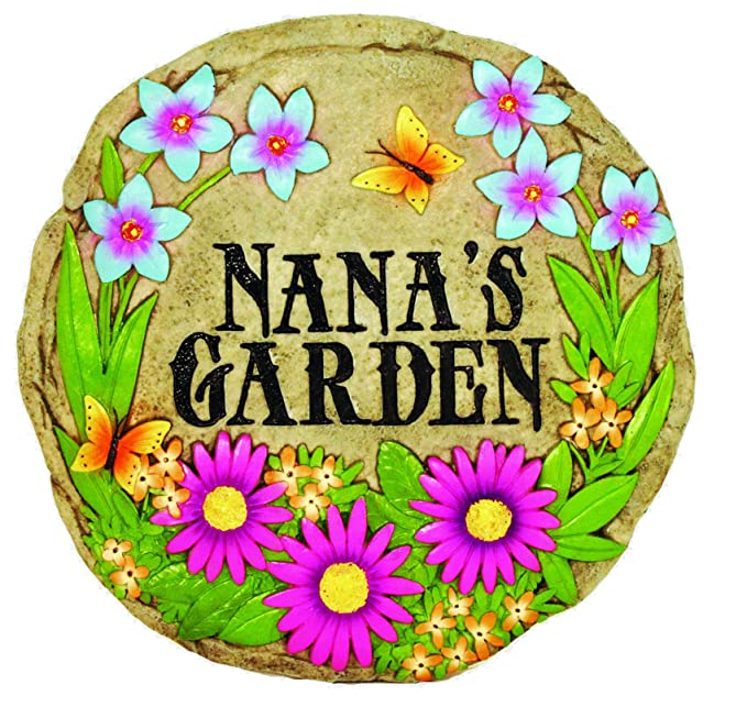 b6e6dffb2 Amazon.com : Spoontiques Nana's Garden Stepping Stone : Garden & Outdoor