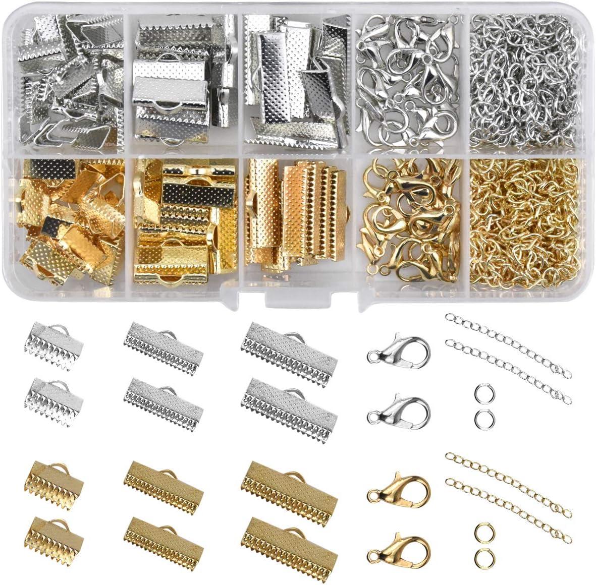 Cierre de Langosta Magnético para Pulsera, Collar, Joyería, Fabricación de Bisutería Color Plateado y Dorado
