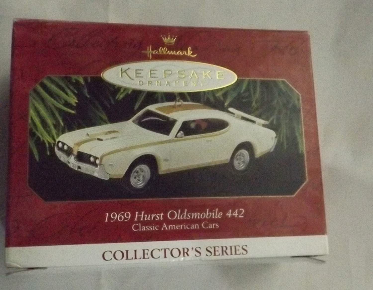 Hallmark 1969 Hurst Oldsmobile 442 Car Christmas Ornament 1997 QX6102