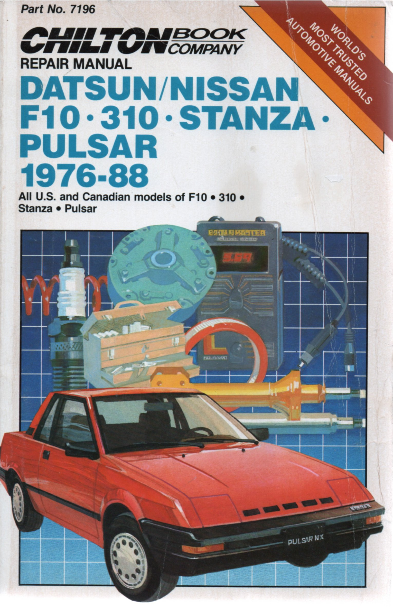 Chilton's Repair Manual Datsun/Nissan F10, 310, Stanza, Pulsar 1976-88:  Chilton Book Company, Chilton's Automotives Editorial: 9780801978531:  Amazon.com: ...