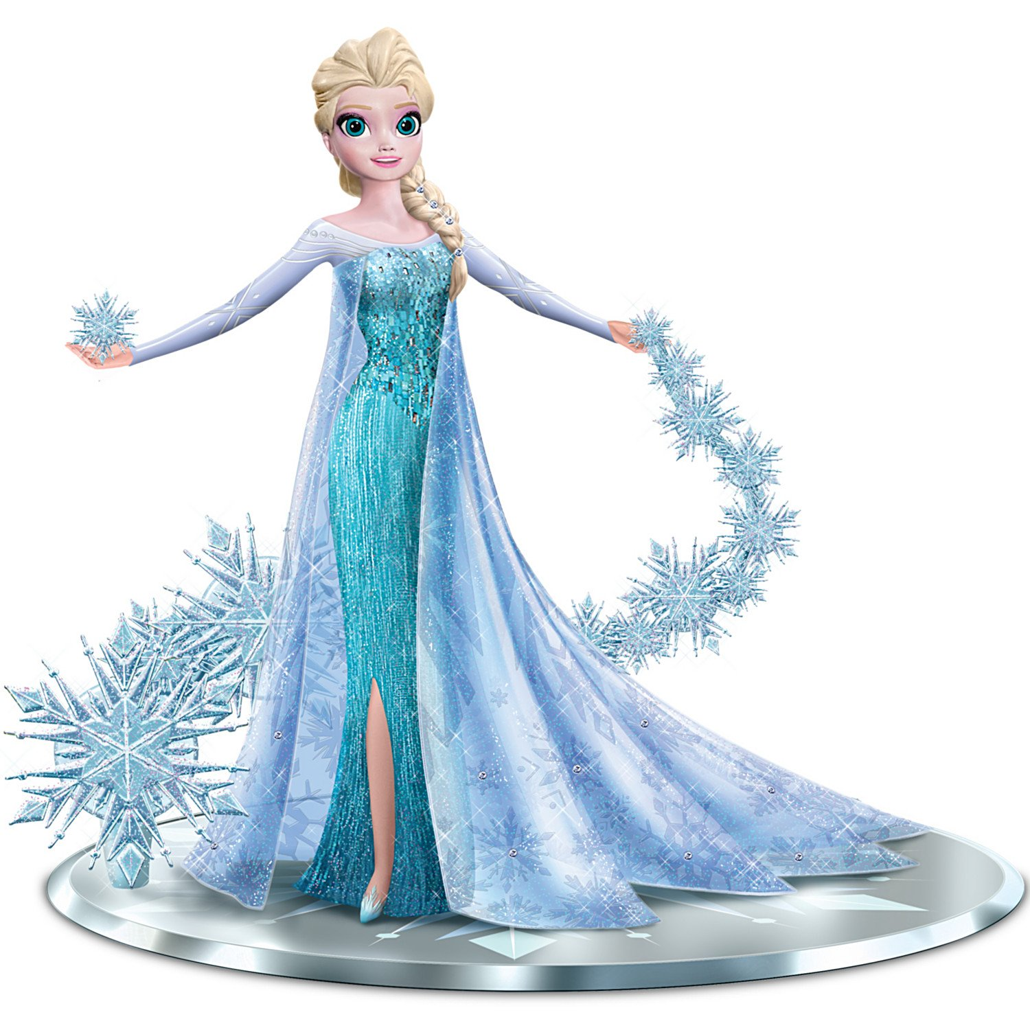 Disney FROZEN Elsa the Snow Queen with Swarovski Crystals: Let It Go Figurine by The Hamilton Collection