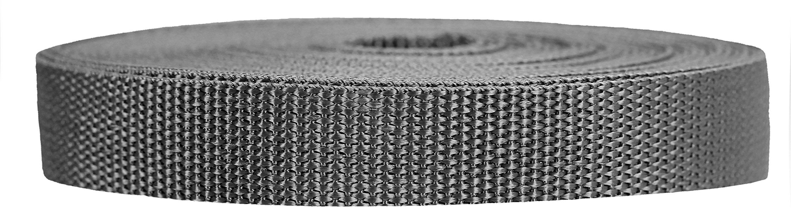 Strapworks Heavyweight Polypropylene Webbing - Heavy Duty Poly Strapping for Outdoor DIY Gear Repair, 3/4 Inch x 10 Yards, Charcoal by Strapworks