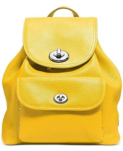 COACH Womens Mini Turnlock Tie Rucksack SV/Canary Backpack