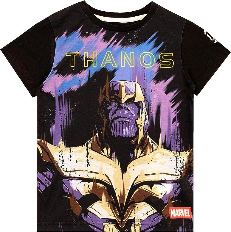 Marvel Camiseta de Manga Corta para niños Thanos Negro 6-7 Años: Amazon.es: Ropa y accesorios
