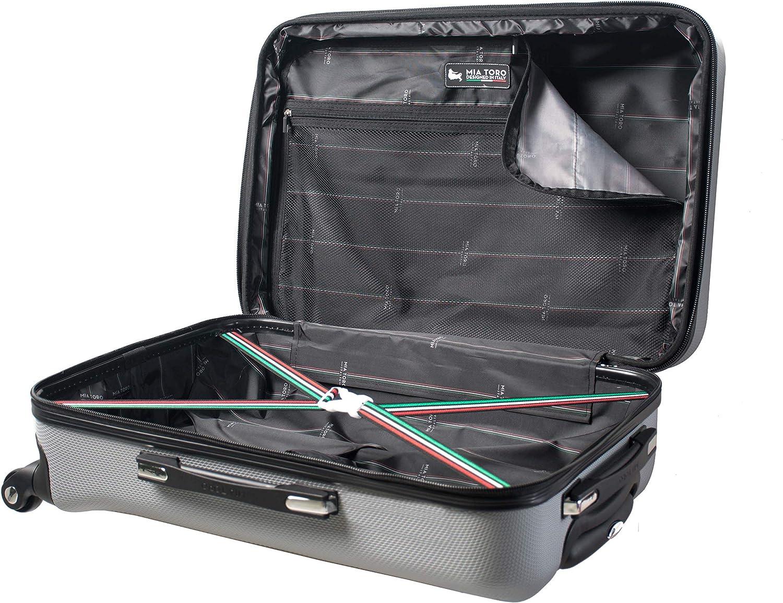 Mia Toro Italy Gaeta Hard Side 30 Inch Spinner Luggage Burgundy