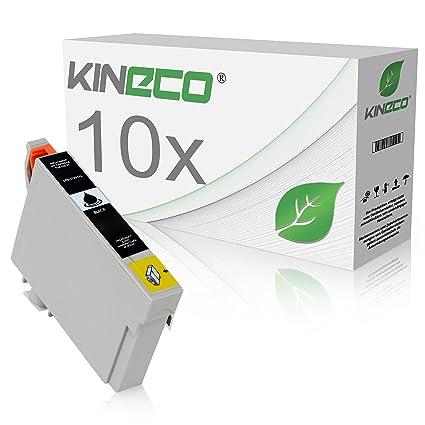 10 Cartuchos de Tinta Compatible con Epson Stylus C13 T1291 4010 ...