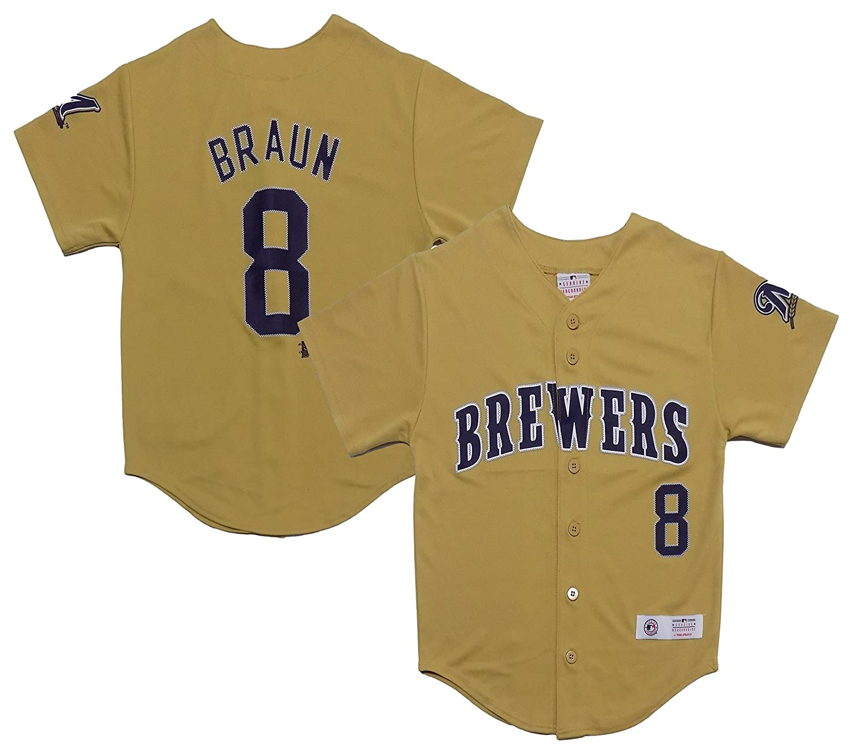 best cheap 5a033 62783 Amazon.com: Ryan Braun Milwaukee Brewers Gold Youth Player ...