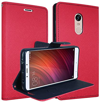 separation shoes dc16c dbdf6 ERIT Ultra Compact with Stand, Credit Card Slots and Wallet Flip Cover for  Xiaomi Redmi Note 5 2018 (Red)