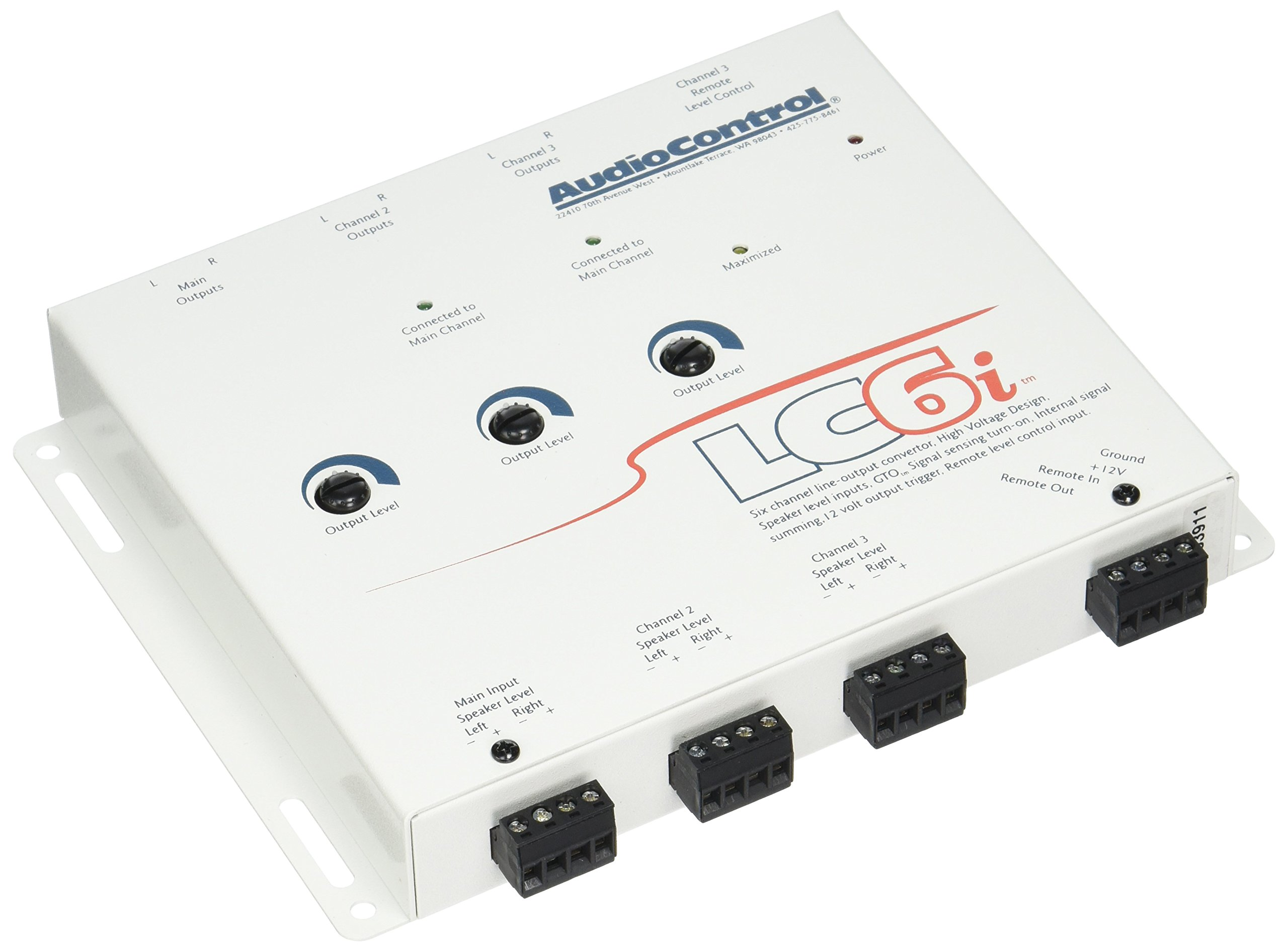 Audio Control LC6IGRAY 6-Channel Line Output Converter for Adding Outboard Mps to Factory Audio System, Gray