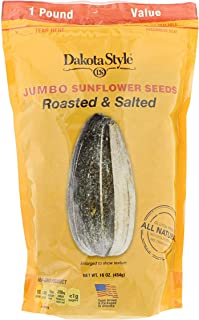 product image for Dakota Style Jumbo In-Shell Sunflower Seeds, Original, 16 Ounce (Pack of 12)