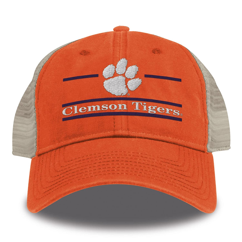 729ef92b06f Amazon.com   The Game NCAA Clemson Tigers Split Bar Design Trucker Mesh Hat