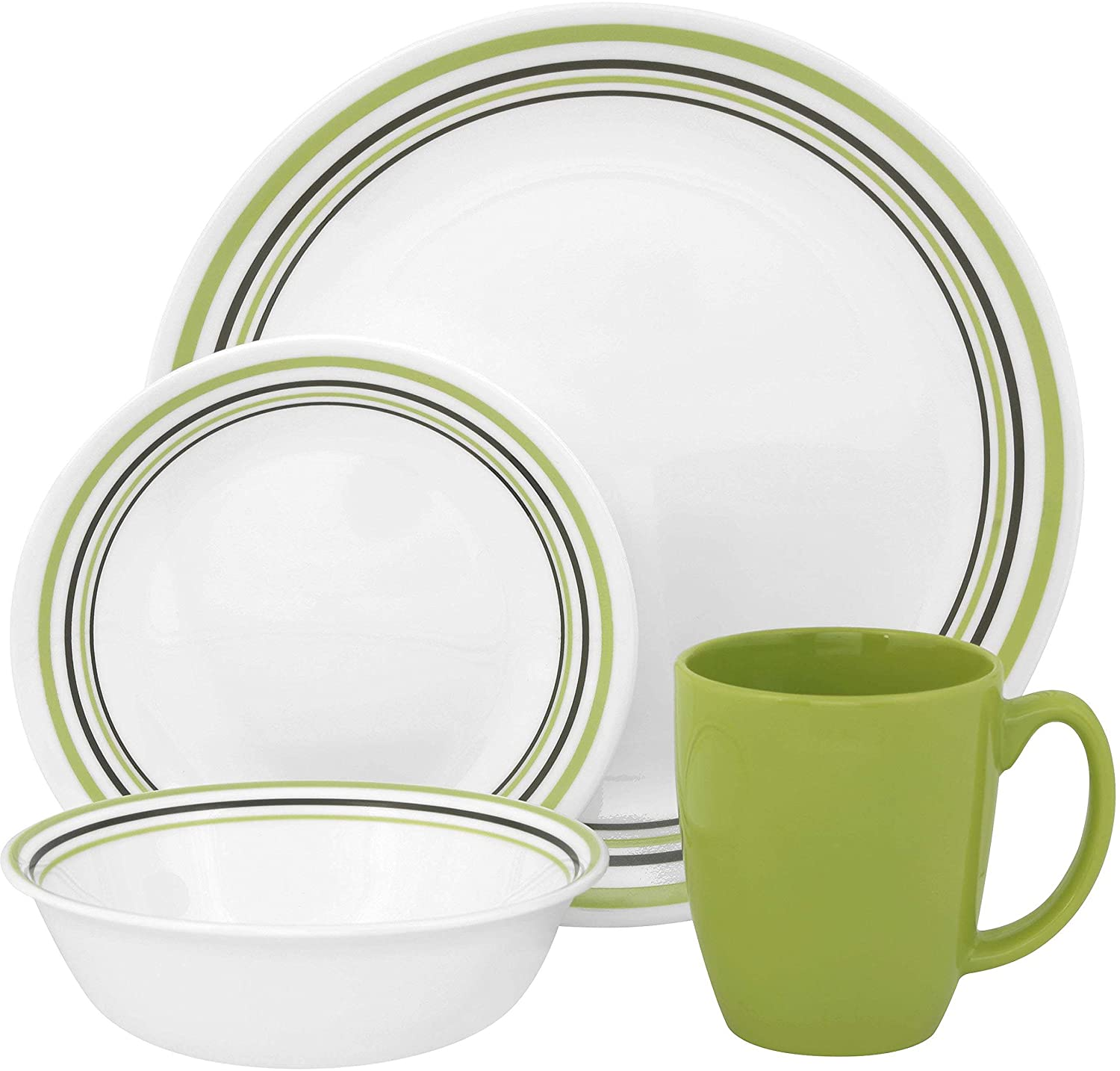 Amazon.com | Corelle Livingware 16-Piece Dinner Set Service for 4 Dinnerware Sets Dinnerware Sets  sc 1 st  Amazon.com & Amazon.com | Corelle Livingware 16-Piece Dinner Set Service for 4 ...
