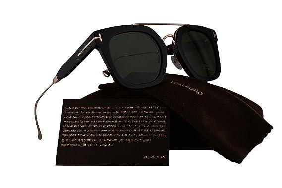 87df26e6383 Tom Ford FT0541 Alex-02 Sunglasses Black Gold w Green Lens 05N TF541   Amazon.co.uk  Clothing