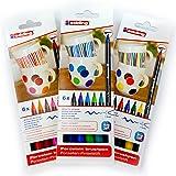 4200Marqueurs pour porcelaine, set 3x 6, 1–4mm, Family Kit de, chaud, de Cool Colour de
