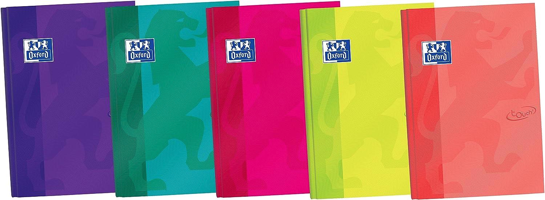Oxford Touch - Pack de 5 libretas cosidas de tapa extradura, B5 ...