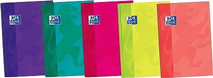 Oxford Touch - Pack de 5 libretas cosidas de tapa extradura, B5: Amazon.es: Oficina y papelería