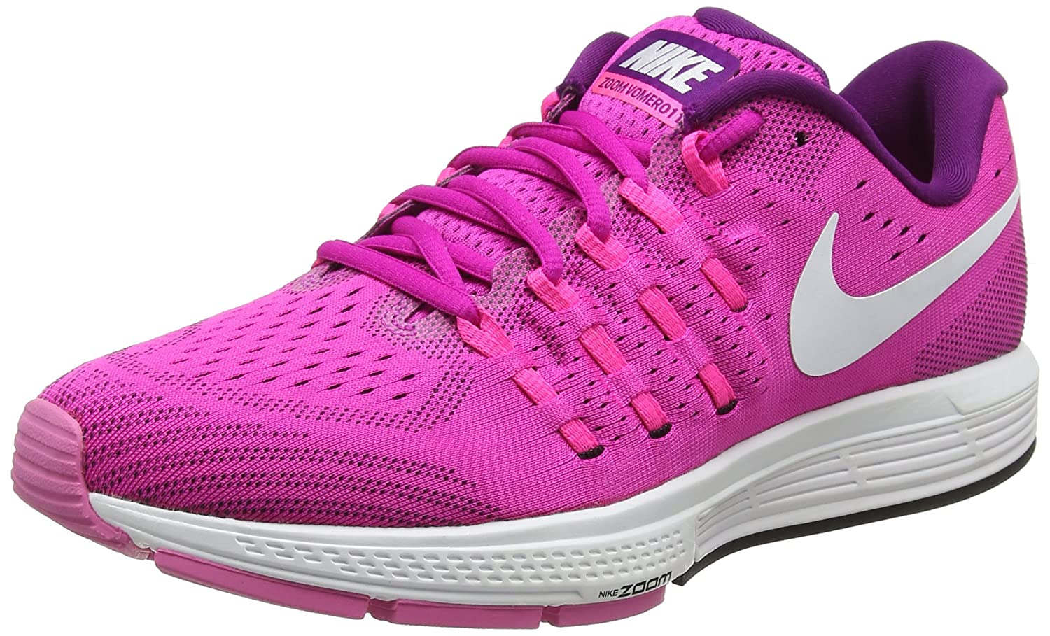 NIKE Women's Air Zoom Vomero 11 Running Shoe B01M4HBQ9O 8 B(M) US|Fire Pink/White-bright Grape-black