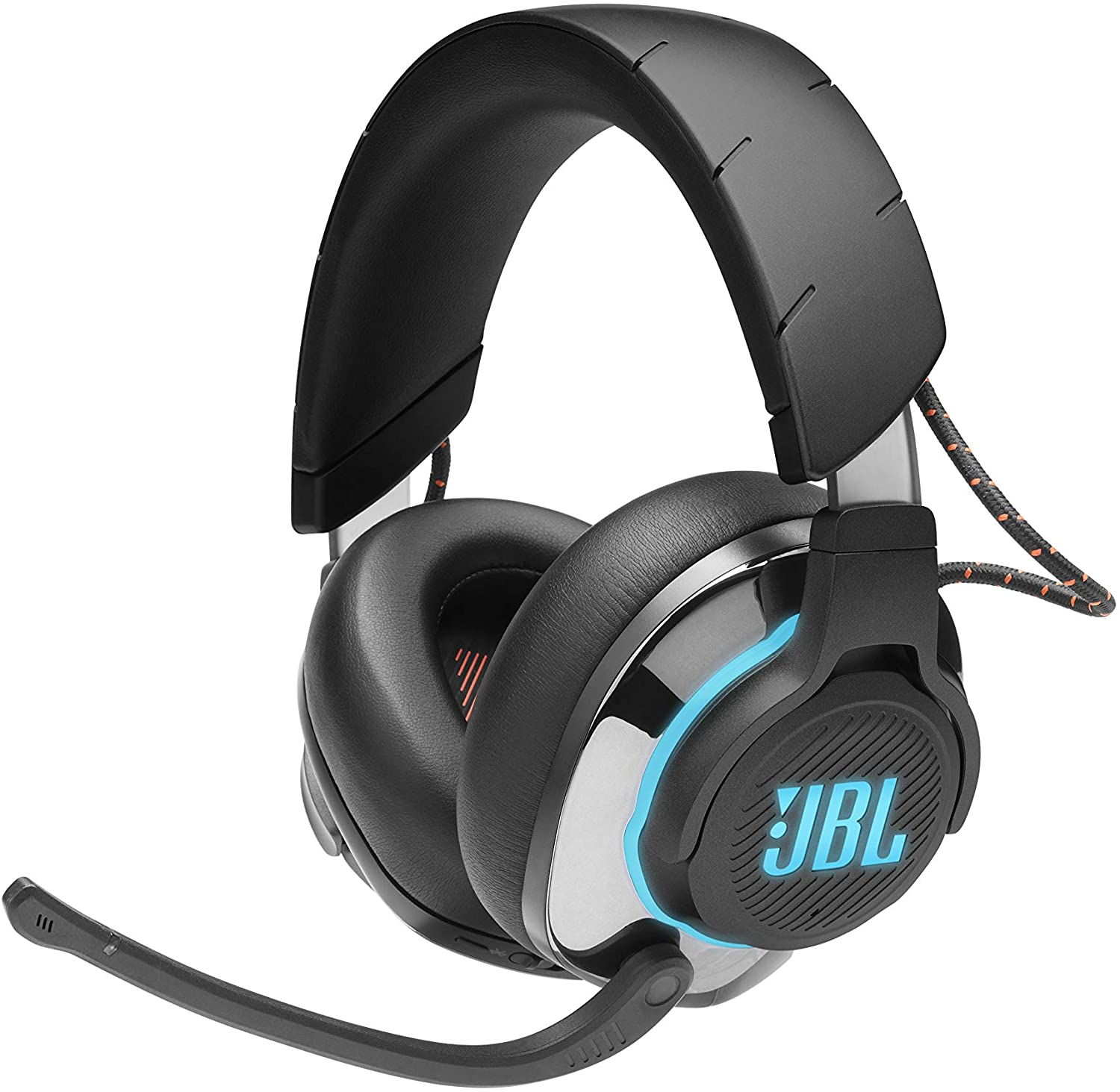 Amazon Com Jbl Quantum 800 Wireless Bluetooth Noise Cancelling Gaming Headset With Microphone And Rgb Pc And Console Compatible Black Electronics