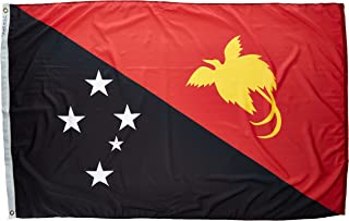 product image for Annin Flagmakers Model 196648 Papua-New-Guinea Flag Nylon SolarGuard NYL-Glo, 4x6 ft, 100% Made in USA to Official United Nations Design Specifications