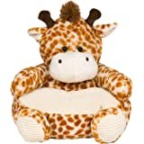 Charmant Soft Plush Giraffe Childrens Chair With Corduroy Trim 18in