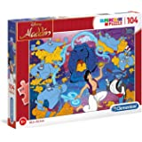 Clementoni Super Color Disney Aladdin 104 -Pieces Puzzle, Multi-Colour,27283
