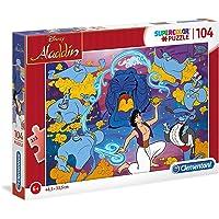Clementoni 27283 Supercolor Puzzle Aladdin Disney, 104 Parça