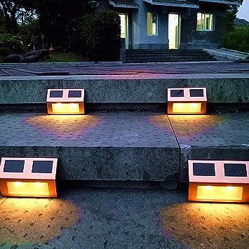 Amazon solar lights outdoor pathway decorative garden solar lights outdoor pathway decorative garden waterproof deck light upgraded dual warm white led brgiht decorations aloadofball Choice Image