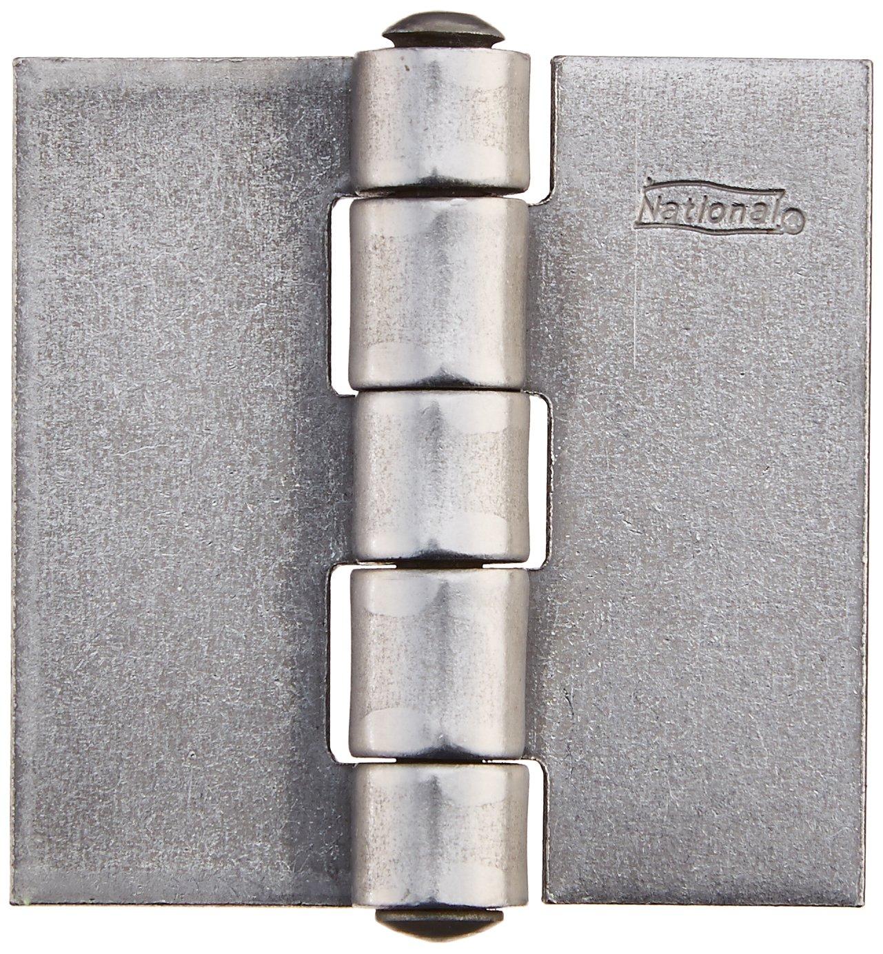 National Hardware B560 2 Door Hinge in Plain Steel