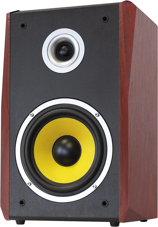 Dynavox TG-1000B-E - Altavoces HiFi (50 W, 2 unidades), color cereza/negro