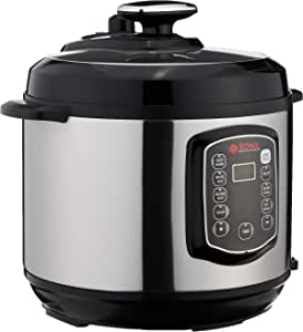 Sona SPC 2501 Electric Pressure Cooker, 6L Black, Stainless Steel