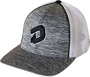 DeMarini D Flexfit Hat - Heather Grey Black D 2c53b0755408