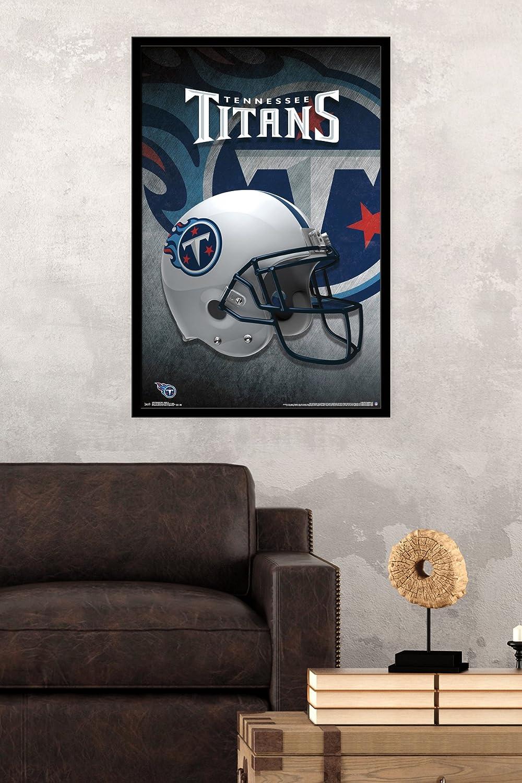 Trends International Wall Poster Tennessee Titans Helmet 22.375 x 34 FR14169BLK22X34