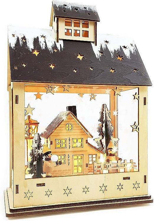 Beleuchtetes Haus Weihnachten