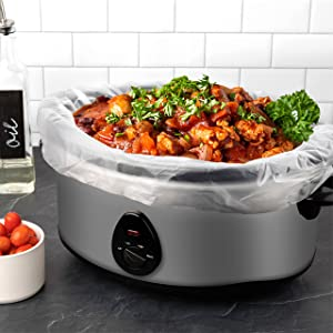 Slow Cooker & crock pot Liners Fits 7 - 8 Quarts, Extra Large Crockpot Liners SIZE: 13'' x 21'' x 4'' Inches, 4