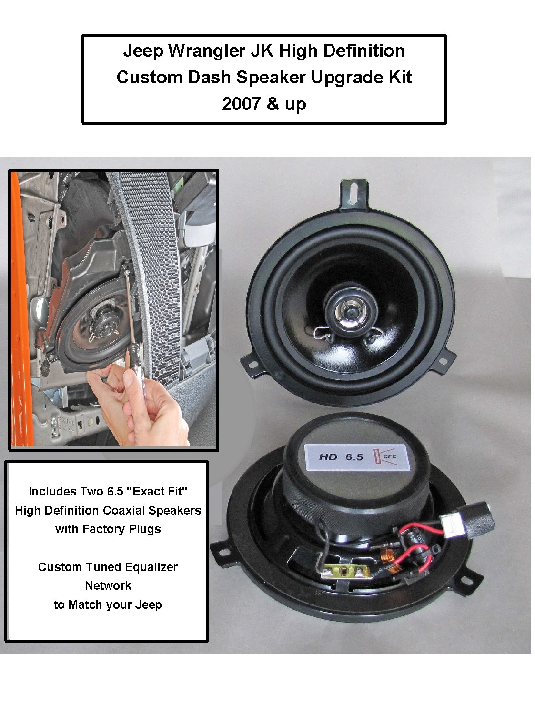 Jeep Wrangler Jk Premium High Definition Front Dash Custom Upgrade Speaker Kit For 2007 2018 Car Electronics