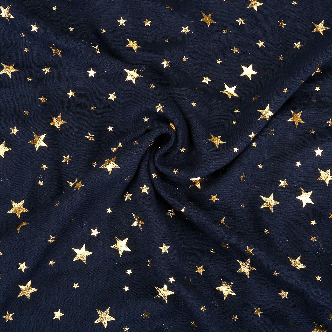 6fd4e16149b CHIC DIARY Echarpe Cercle Ronde Tube Tour de Cou Ring O Cache-nez Motif  Etoile Souple Légère pour Femme Fille(Bleu marine)  Amazon.fr  Vêtements et  ...