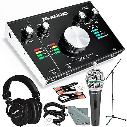 Amazon.com: M-Audio M-Track 2 x 2 m Interfaz de audio USB ...