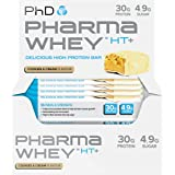 PhD Nutrition Pharma Whey HT+, Cookies and Cream, Pack of 12 x 75g
