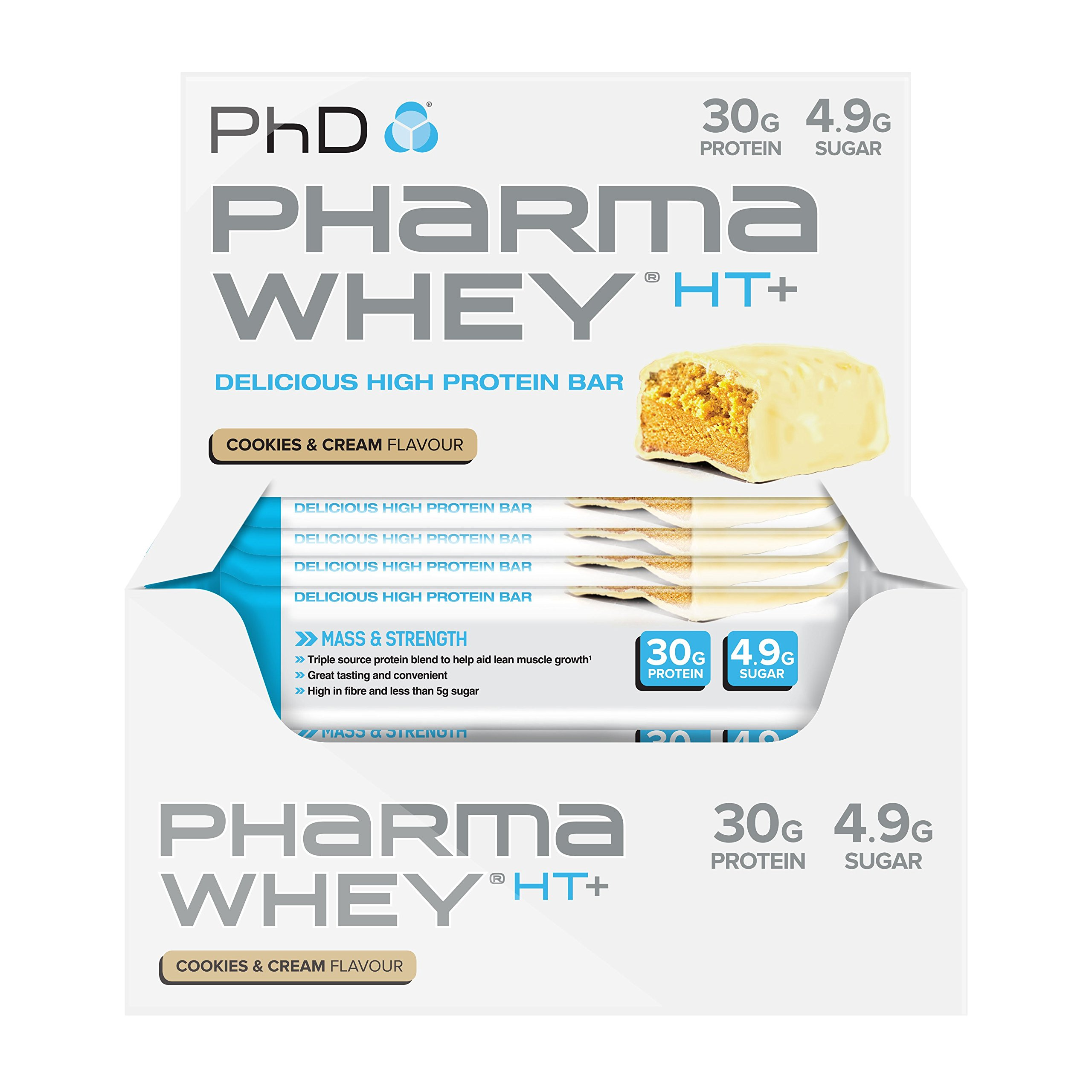 PhD Nutrition Pharma Whey HT+, Cookies and Cream, Pack of 12 x 75g product image