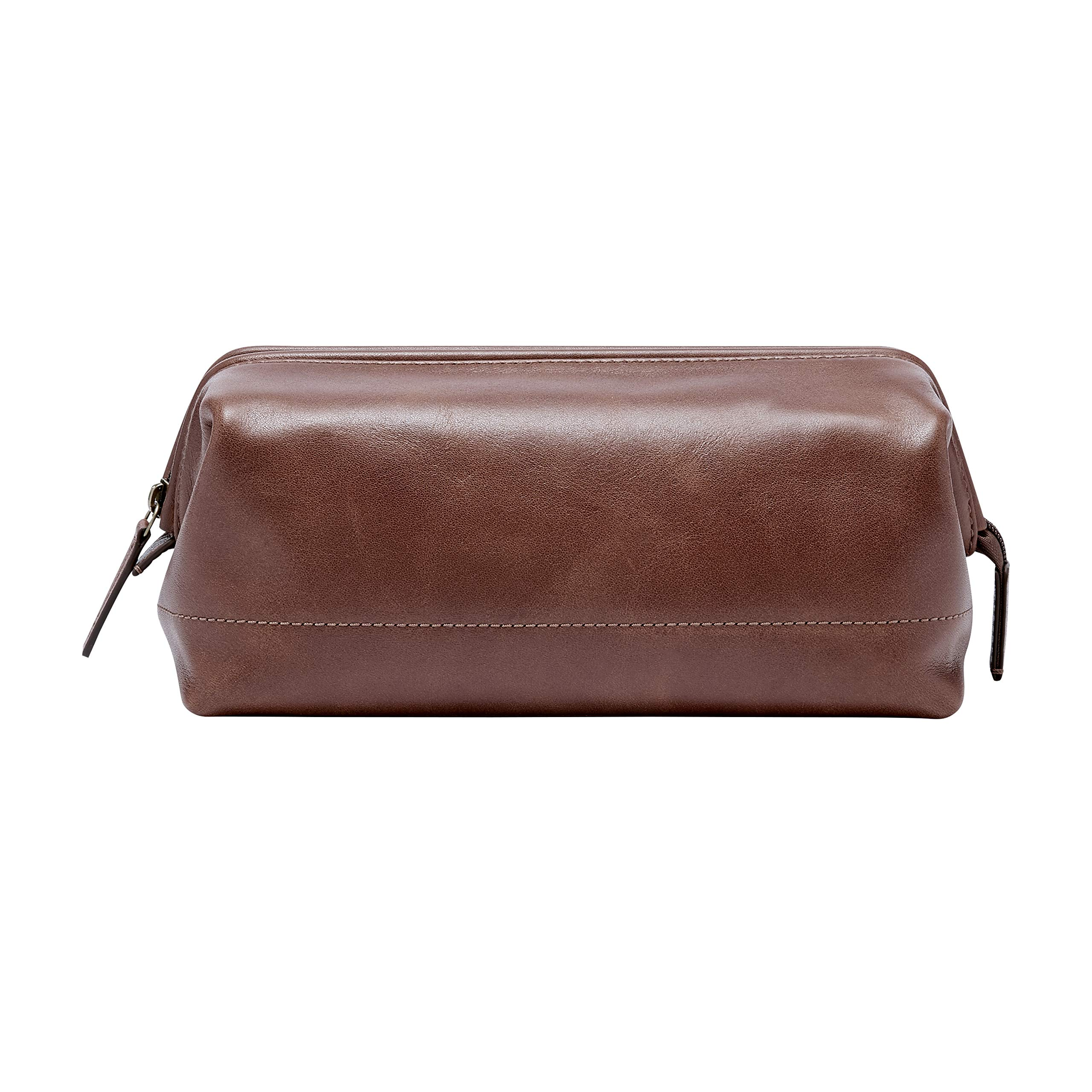 Fossil Men's Framed Shave Kit Cognac Accessory, -cognac, 10.3''L x 6''W x 5.5''H by Fossil