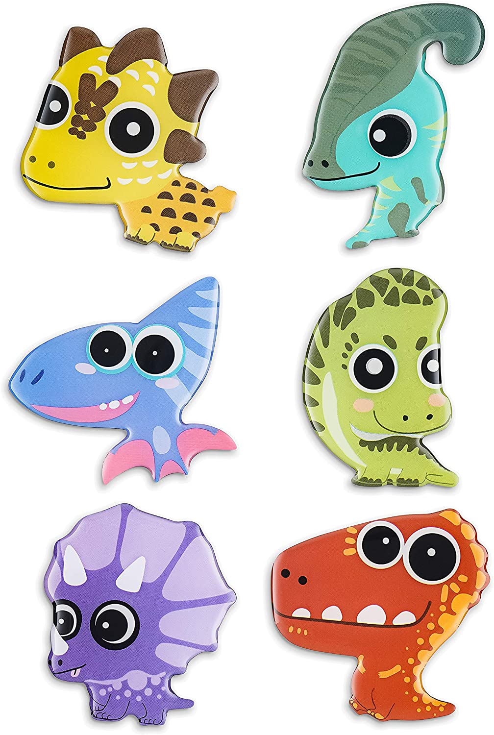MORCART Fridge Magnets 6 Animals for kids,Strong Decorative Magnets for Dishwasher (Dinosaur)